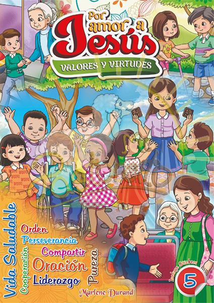 coloreo valores 5 - por amor a jesus