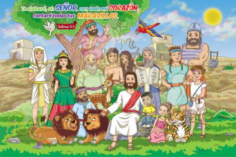 murales de personajes biblicos